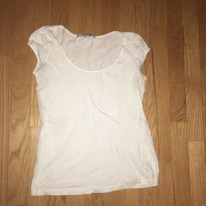 Basic White Tee with fun shoulder sleeves